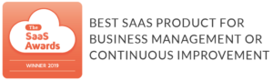 The SaaS Awards - Winner 2019 - Best SaaS Product for Business Management or Continuous Improvement
